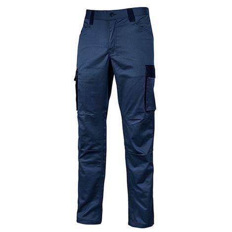 Pantalon de travail en TC stretch avec deux grandes poches latérales multifonction - CRAZY Westlake Blue - HY141WB - U-Power