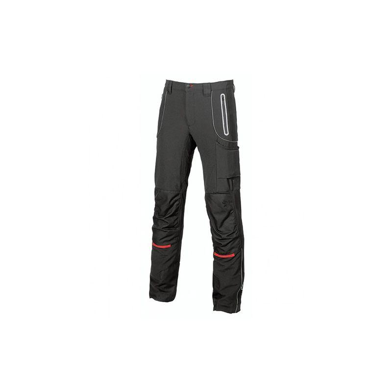 U-power - Pantalon de travail en tissu Soft Shell stretch très confortable et déperlant - PIT Black Carbon Noir - 54 - taille: 54