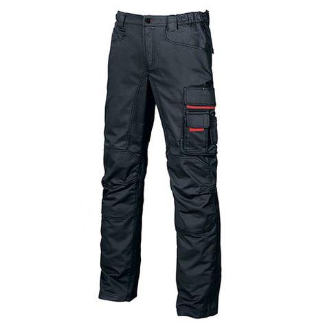 Pantalon de travail en toile coton élastiquée coupe Slim Fit - SMILE Deep BLUE - HY015DB - U-Power