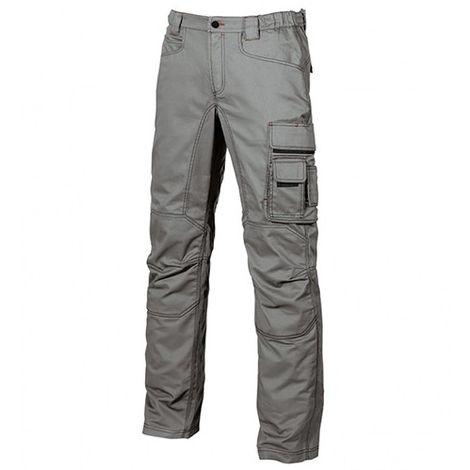 Pantalon de travail en toile coton élastiquée coupe Slim Fit -SMILE Stone Grey - HY015SG - U-Power