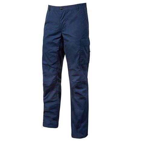Pantalon de travail en toile coton élastiquée effet vieilli et délavé - BALTIC Westake Blue - EY128WB - U-Power