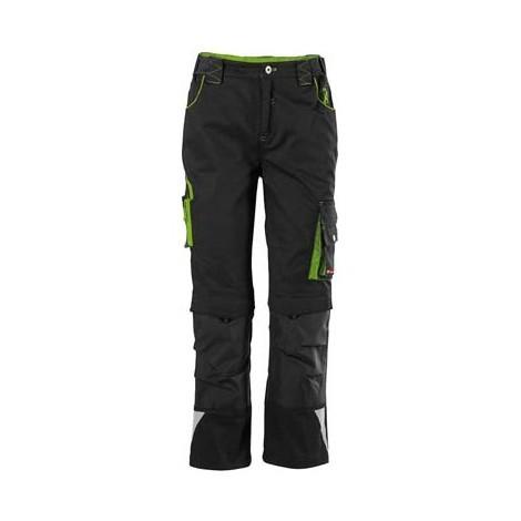Pantalon de travail enfant Fortis 24, Black/limegreen,Gr122-128