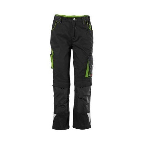 "main image of ""Pantalon de travail enfant Fortis 24, Black/limegreen,Gr134-140"""