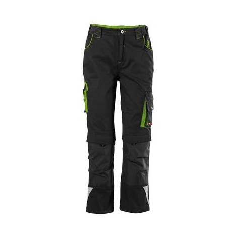 "main image of ""Pantalon de travail enfant Fortis 24, Black/limegreen,Gr158-164"""