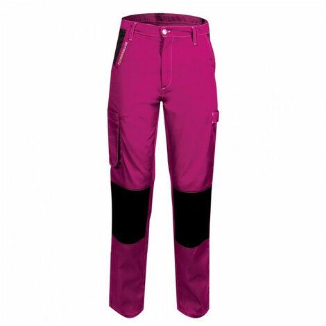 Pantalon femme de travail rose/noir PEP'S FASHION SECURITE (xl) - Taille : XL