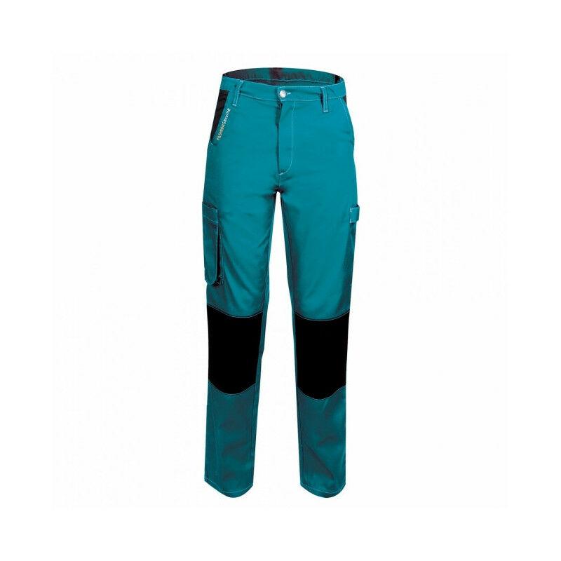 Pantalon femme de travail turquoise/noir PEP'S FASHION SECURITE (s) - Taille : S