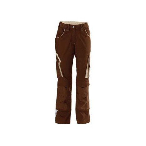 Pantalon de travail femme 24, Brown/beige,Gr.38