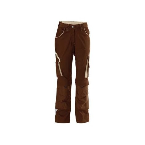 Pantalon de travail femme 24, Brown/beige,Gr.46