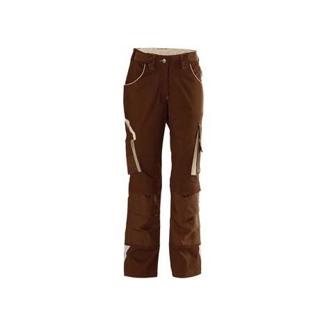 Pantalon de travail femme 24, Brown/beige,Gr.50