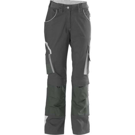 Pantalon de travail femme 24, DarkGrey/lightgrey,Gr.52