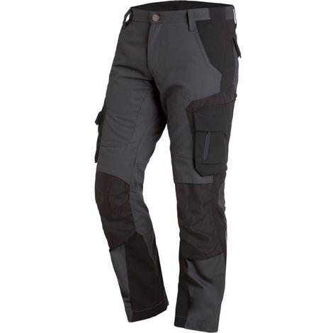 Pantalon de travail Florian, Taille 54, anthracite/noir