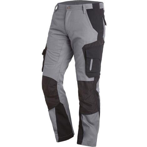 Pantalon de travail Florian Taille 54, gris/noir