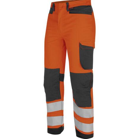 Pantalon de travail Fluo Industriel Haute-Visibilité Würth MODYF Orange/Anthracite
