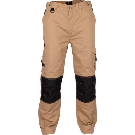 Pantalon de travail genoux et bas de jambes renforcés Outibat - Taille S - Camel