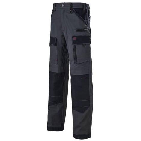 Pantalon de travail Gris/Noir à genouillères