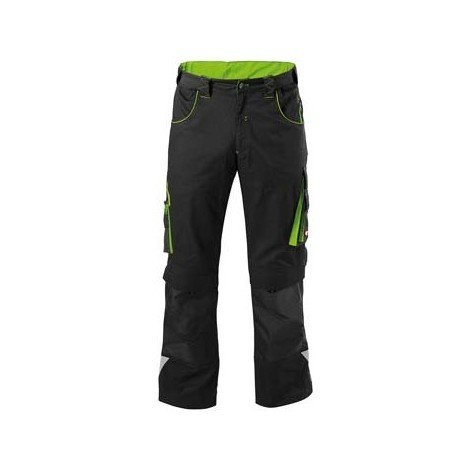 Pantalon de travail Homme FORTIS 24, Black/lime green,Taille 33