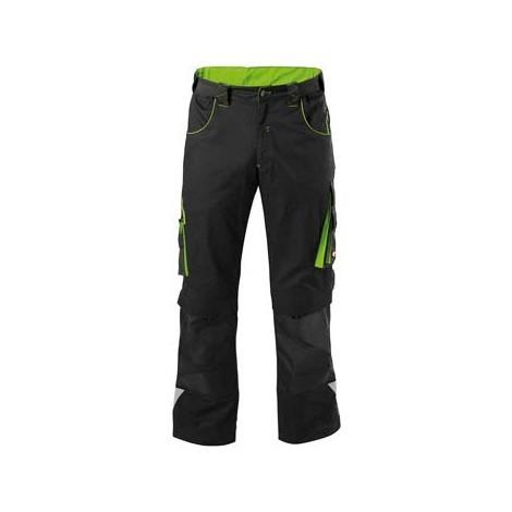 Pantalon de travail Homme FORTIS 24, Black/lime green,Taille 34