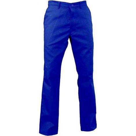 MAX Pantalon de travail homme POCHE METRE 100% coton Bleu bugatti - T. 34 - Vpb