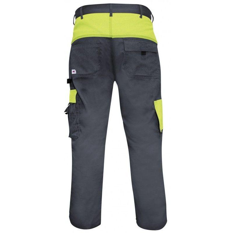 KRA802.001.005. Pantalon de travail taille XXL KRAFTWERK XXL - Gris et vert