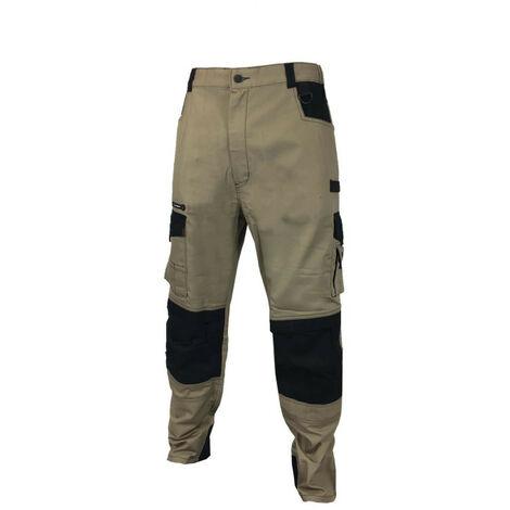 Pantalon de travail LAFONT work attitude - beige et noir - Taille 6