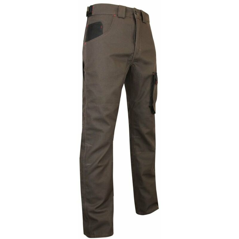 Pantalon de paysagiste LMA TERREAU Taupe / Noir 54