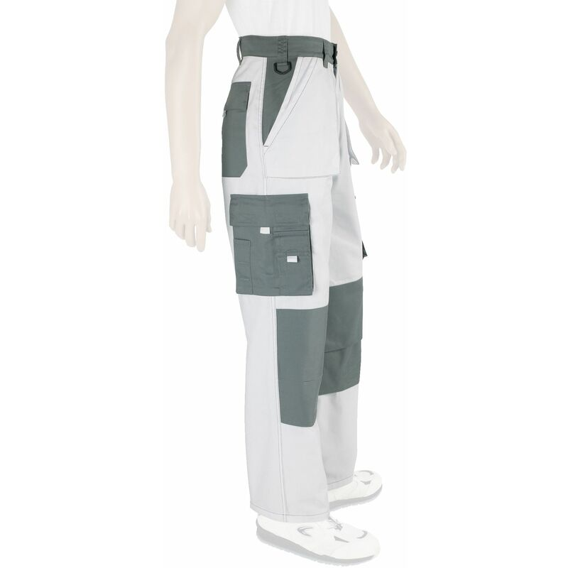 Pantalon de travail Presti-confort Multi Poche Blanc du 36 au 60 54 - Dulary