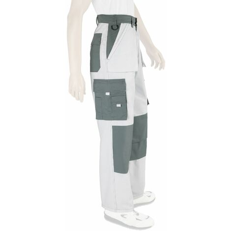 Pantalon de travail Multi Poche Blanc du 36 au 60 - Dulary