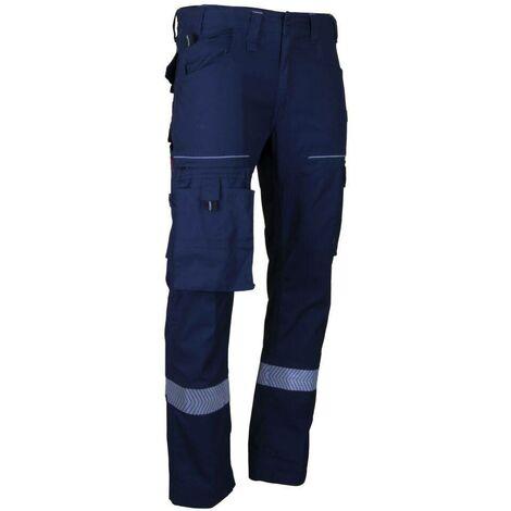 Pantalon de travail multipoche stretch bleu foncé Elevateur LMA - plusieurs modèles disponibles