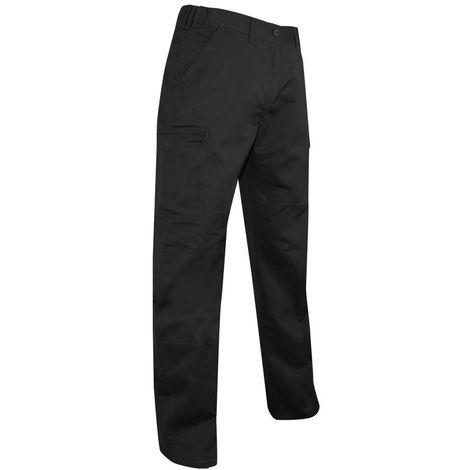 Pantalon de travail multipoches 245 Gr - Gamme été - PLATINE - NOIR - 1494 - LMA Lebeurre