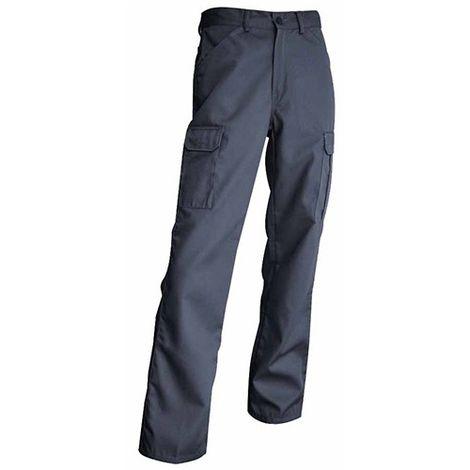 Pantalon de travail multipoches 245 Gr - Gamme été - TRUELLE - GRIS - 101018 - LMA Lebeurre