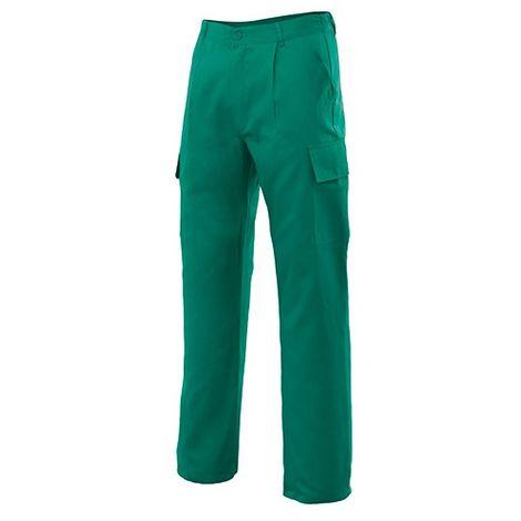 Pantalon de travail multipoches 80% polyester 20% coton 190 gr/m2 - Vert Chasseur - 31601 - Vertice laboral