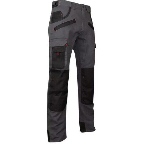 Pantalon de travail multipoches à genouillères Gris/Noir   1261 ARGILE - LMA   54