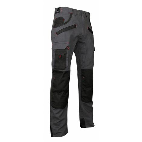 Pantalon de travail multipoches à genouillères Gris/Noir | 1261 ARGILE - LMA