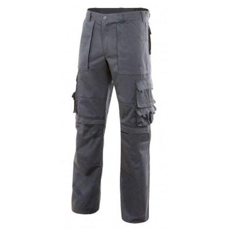 Pantalon de travail multipoches avec renforcement en tissu - Gris - 103016 - Velilla