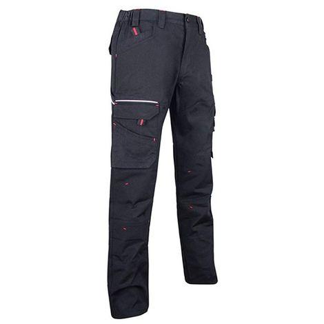 Pantalon de travail Multipoches LMA extensible Basalte Noir