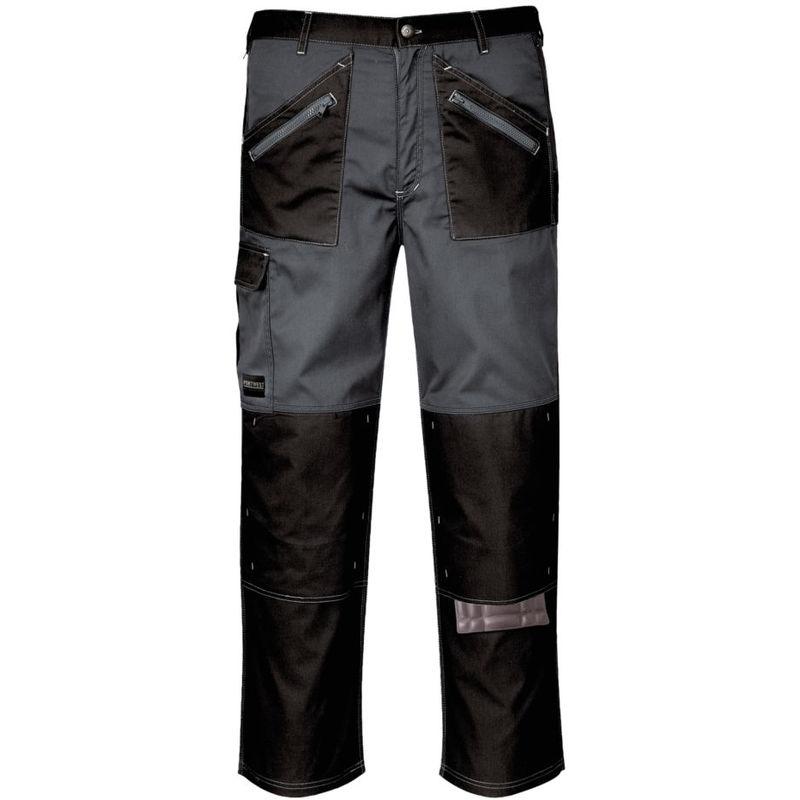 Pantalon de travail multipoches Portwest Chrome Noir / Gris XXL