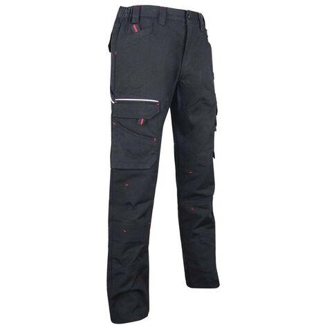 Pantalon de travail multipoches tissu Canvas Noir   1425 BASALTE - LMA