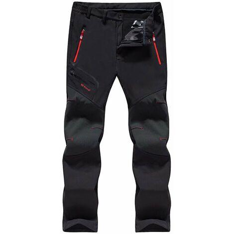 Pantalon de travail Pantalon en polaire d'extérieur Pantalon de ski imperméable unisexe à coque souple et pantalon en cachemire 7XL