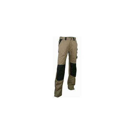 Pantalon bicolore Beige/Noir avec poches genouillères - LMA - PLOMB | 36