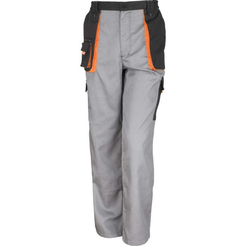 Pantalon de travail Result Lite Gris / Noir 3XL