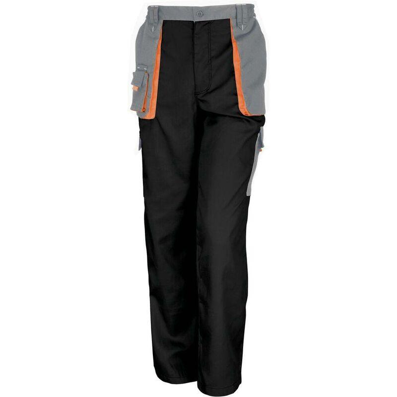 Pantalon de travail Result Lite Noir / Gris 3XL