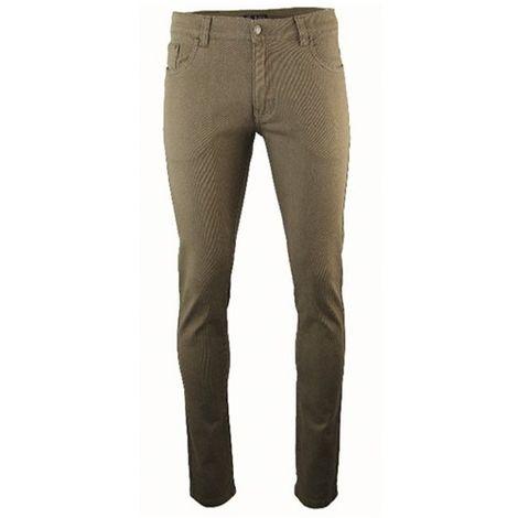 Pantalon de travail sergé avec 6 poches et coupe ajustée - Gamme jeans - ARGENTINE - TAUPE - 1609 - LMA Lebeurre