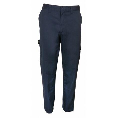 Pantalon de travail slim bleu-Manufrance