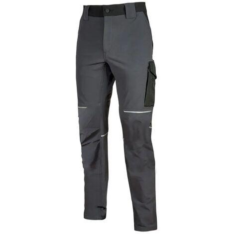 Pantalon de travail Slim Gris Foncé WORLD | FU189AG - U-Power