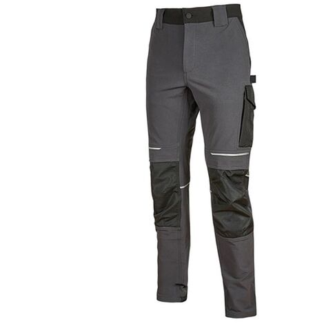 Pantalon de travail slim résist en nylon gris foncé ATOM TL U-Power