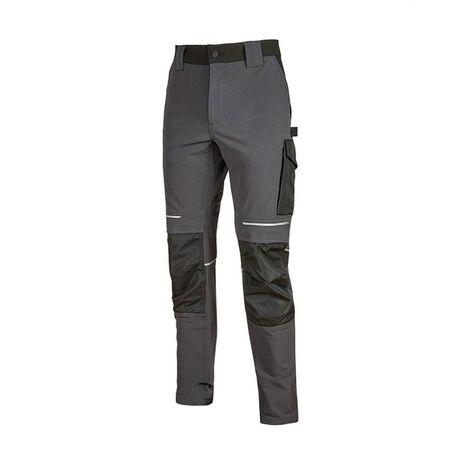 Pantalon de travail slim résist en nylon gris foncé ATOM T3XL U-Power - Gris Foncé