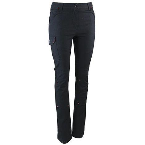 Pantalon de travail strech multipoches - Gamme Femme - SOUPLESSE - NOIR - 1617 - LMA Lebeurre