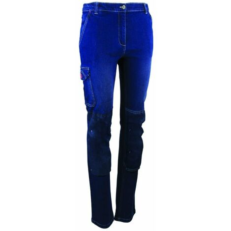 Pantalon de travail stretch femme LMA FLEXION Denim