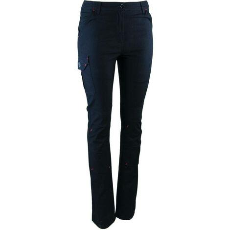 Pantalon de travail stretch femme LMA SOUPLESSE Noir 44