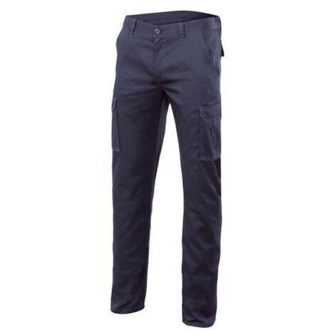 Pantalon de travail stretch multipoches 16% polyester 46% coton 38% EMET 240 gr/m2 - Bleu Marine - 103002S - Velilla - taille: 42